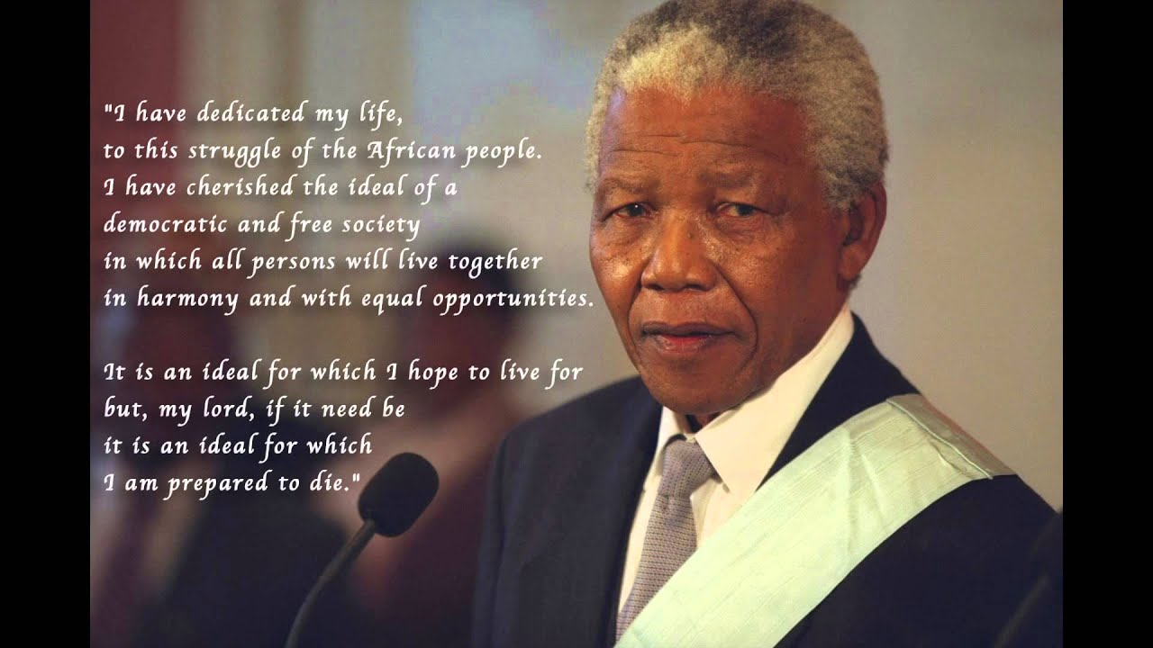 the method of struggle of nelson mandela The depth of oppression in south africa created nelson mandela,  both mandela and the mahatma believed freedom was not pushed from  but his method of.