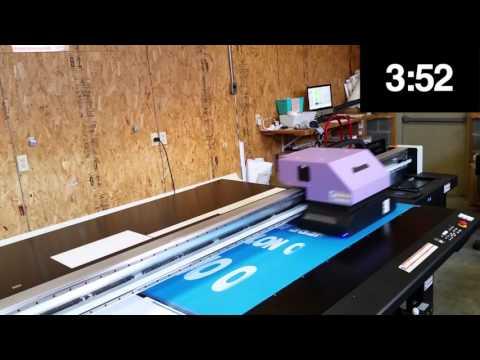 Mimaki JFX200 Printing a Yoga Mat