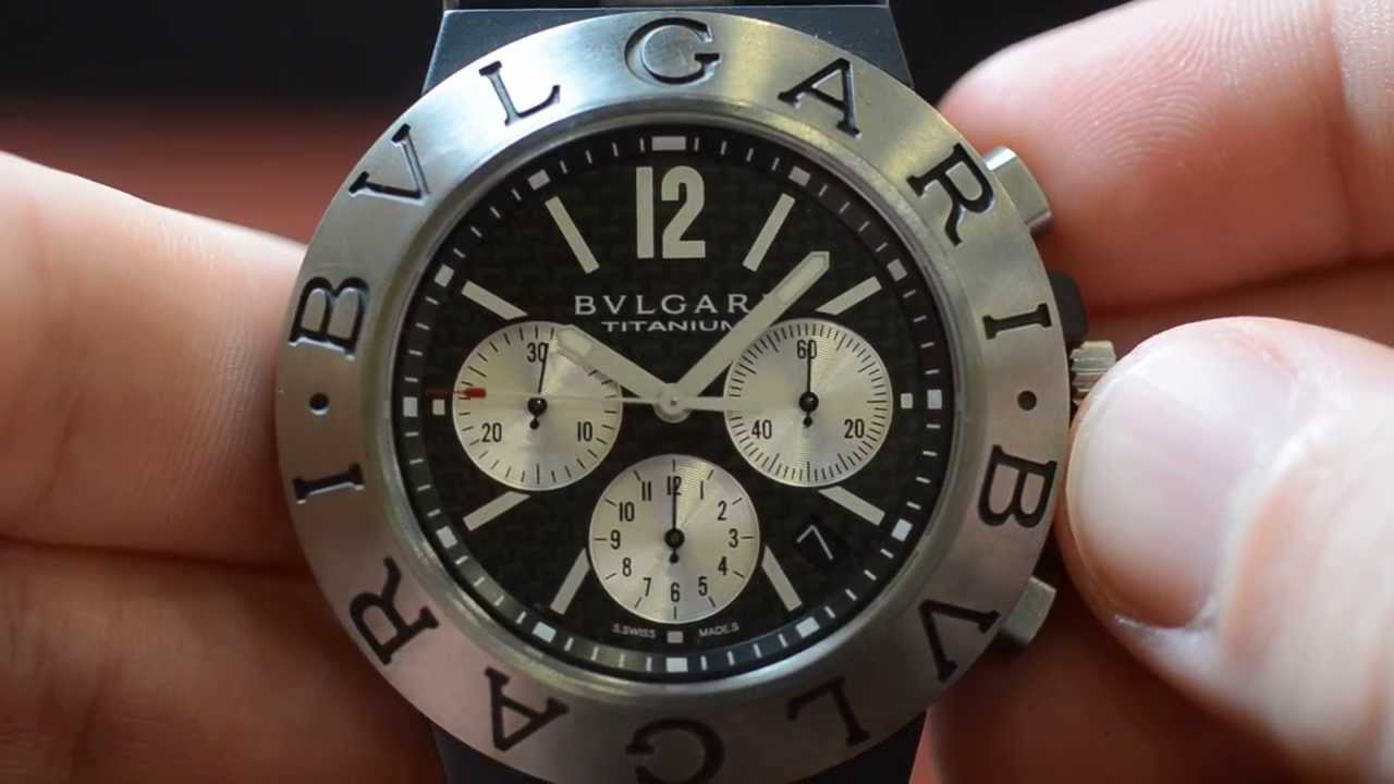 2687b29b340 PRE-OWNED BVLGARI DIAGONO WATCH TITANIUM CHRONOGRAPH - Boca Raton Pawn -  YouTube