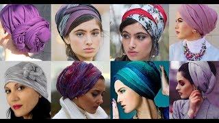 как красиво сделать платок на голову