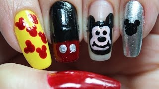 Unha Mickey Mouse (Disney, Desenho, Infantil) Mickey Nail Art (Drawing, Kids, Cartoon) by Carla Bombonato
