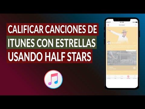 Cómo Calificar Canciones de iTunes con Estrellas Usando Half Stars