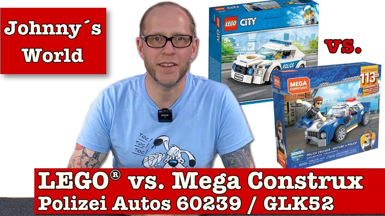 LEGO® vs. Mega Construx - Polizei-Autos 60239 + GLK52