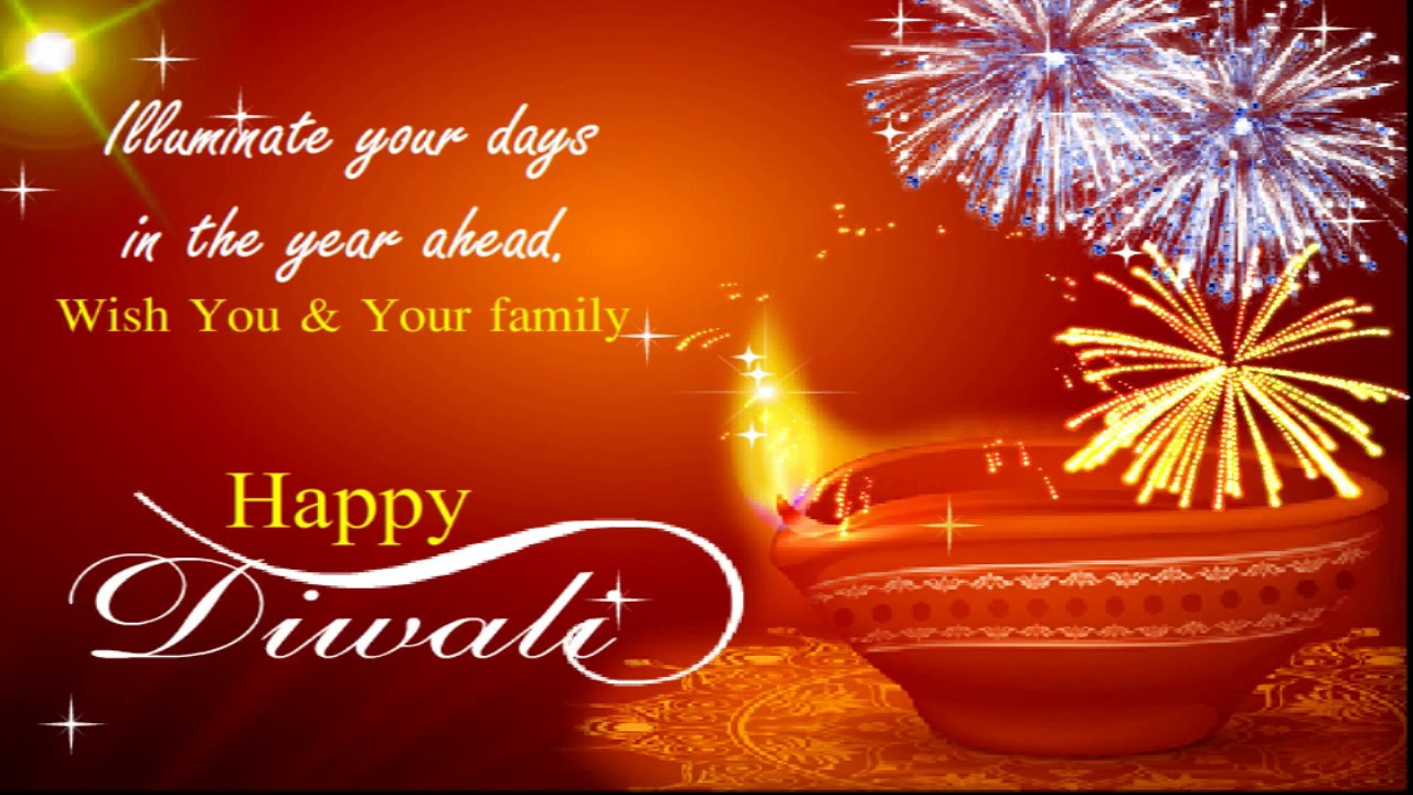 Happy diwali to you and your family diwali wishes greeting card happy diwali to you and your family diwali wishes greeting card youtube m4hsunfo