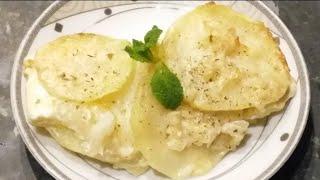 Potatoes Dauphinoise/kartofler/baked creamy potato/ for healthy iftar