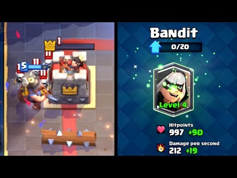 Clash Royale - BIG BANDIT UPGRADE! Tower = 1HP