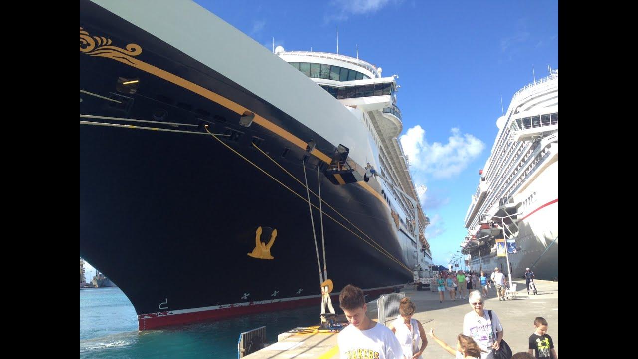Disney Cruise Ship Fantasy Docking At Saint Martin Island