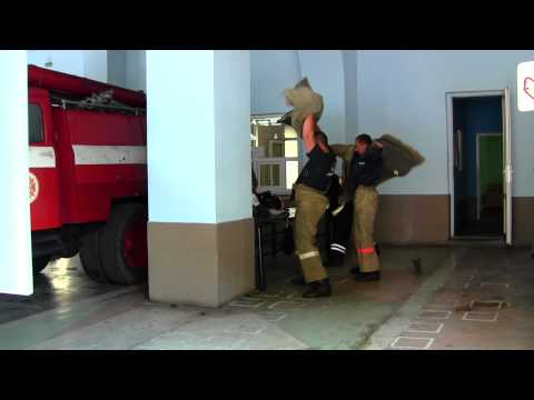 Fire Department In Ukraine Responding To A Call.