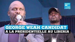 George Weah candidat à la présidentielle au Liberia