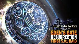 Final Fantasy XIV Shadowbringers - Eden's Gate: Resurrection Raid Gameplay [ FFXIV ]