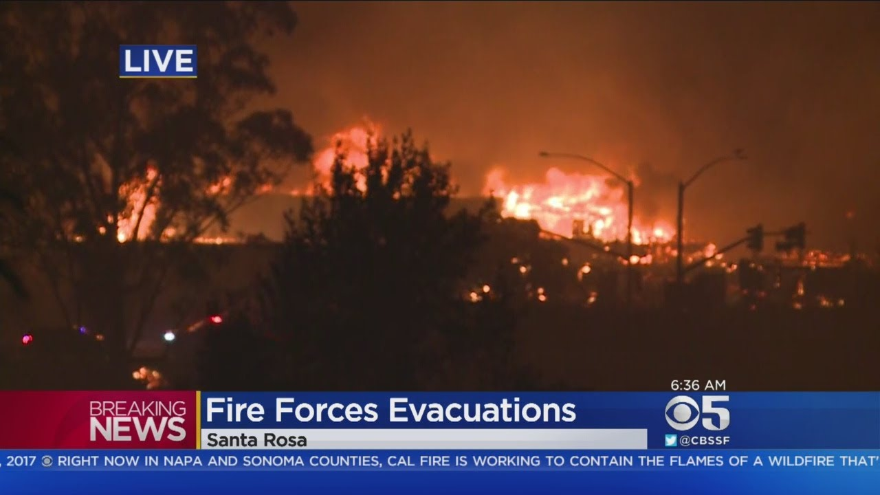 Massive wildfire forces evacuations in santa rosa youtube for Craft store santa rosa
