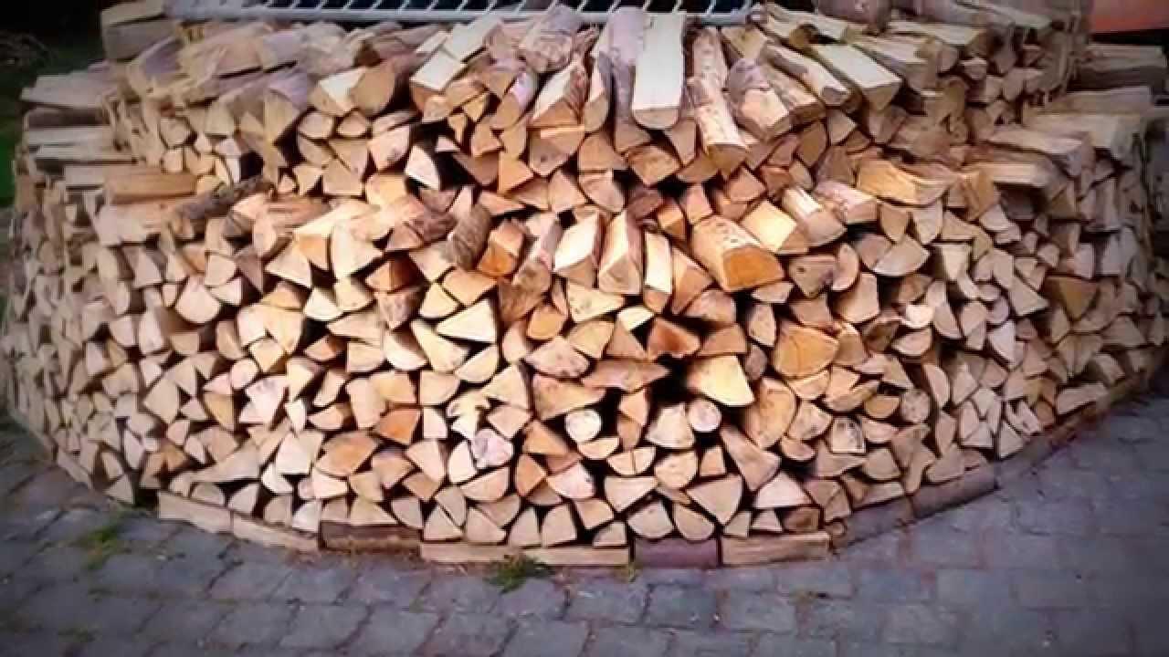 Holzmiete Holz Hausen Sicher Und Stabil Bauen Youtube