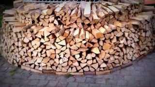 Holzmiete / Holz Hausen, sicher und stabil bauen..!!!