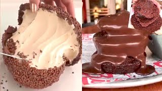 عشاق الشوكولاته😍😍  شوكولاته سايحه    كيك بالشوكولاته   اجمل كيك    ايس كريم