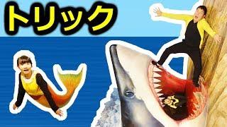 ★「ひめちゃんが人魚になったよ~!」熱海トリックアート前編★Atami Trick Art Museum 1★