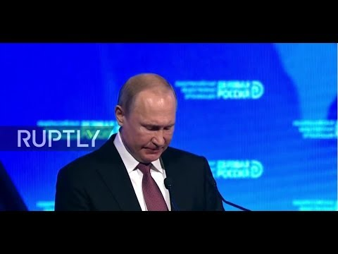 LIVE: Putin participates in the plenary forum 'Business Russia' in Moscow