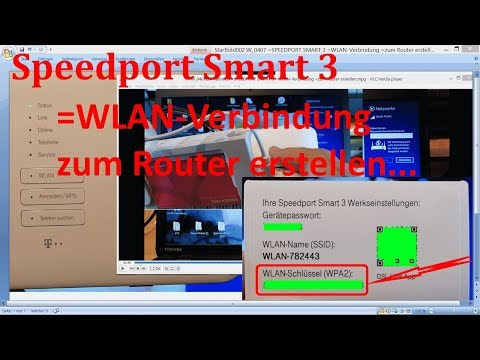 W 0407 Speedport Smart 3 Wlan Verbindung Zum Router Erstellen Youtube
