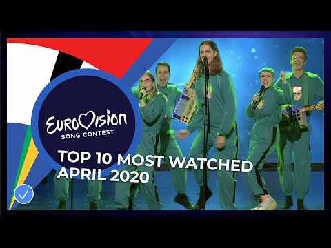 TOP 10: Most watched in April 2020 - Eurovision Song Contest