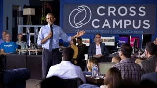 The President Holds a Town Hall at Cross Campus