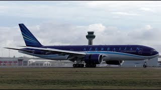 Azerbaijan Airlines Boeing 777-200 Delivery Flight at Stansted Airport