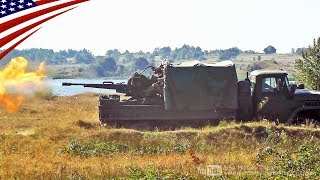 【ガントラック】超強力な2連装対空機関砲「ZU-23」の水平射撃 thumbnail