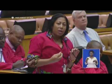 EFF CHIEF WHIP FLOYD SHIVAMBU VS NOMVULA MONKONYANE