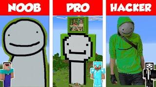 Minecraft NOOB vs PRO vs HACKER: DREAM STATUE HOUSE BUILD CHALLENGE in Minecraft / Animation