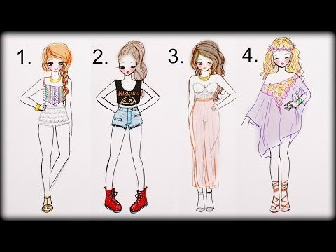 ❤-drawing-tutorial---how-to-draw-4-summer-outfits-❤