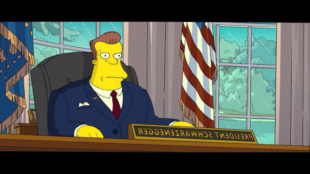 Simpsons I Bin Der Prasident Simpsons The Movie Arnold Schwarzenegger Youtube