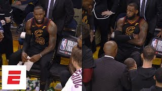 [FULL] Uncut video of Cavaliers' bench before, during and after JR Smith's Game 1 blunder | ESPN