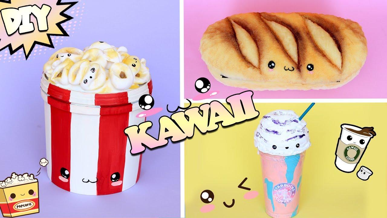 DIY KAWAII comidinhas e SQUISHY com MATERIAL RECICLADO feat DIY com Vivi - YouTube