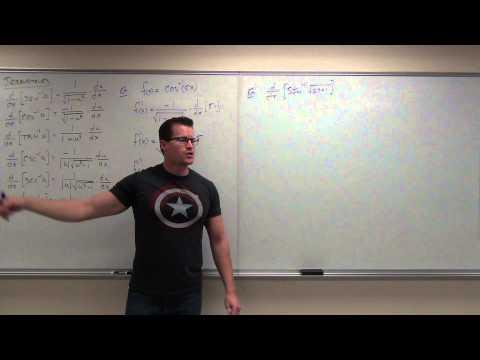Calculus 2 Lecture 6.5:  Calculus of Inverse Trigonometric Functions