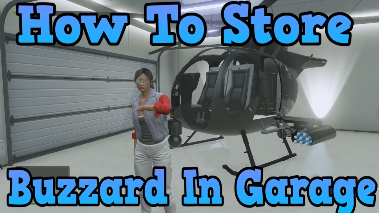 """""""GTA 5 Online"""" How To Store A Buzzard In Your Garage ..."""
