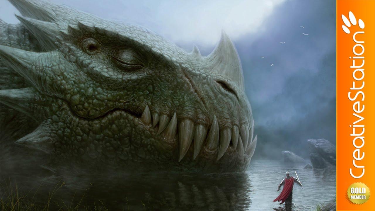Sleeping Dragon  Speed Painting (#photoshop)  Creativestation Gm  Youtube
