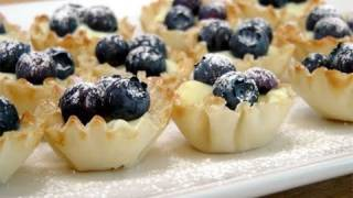 Blueberry Lemon Tartlets - Recipe By Laura Vitale - Laura In The Kitchen Episode 96