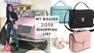 What I'm Buying This 2019 😈 | The Biggest, Boujiest Luxe Shopping List!