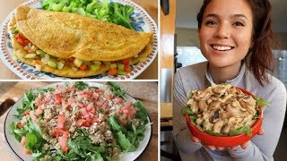What I Eat in a Day // Healthy & Vegan (Omelette, Cauliflower Alfredo)