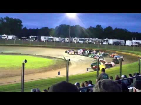 USMTS at Cedar Lake Speedway A-Main 6-13-15