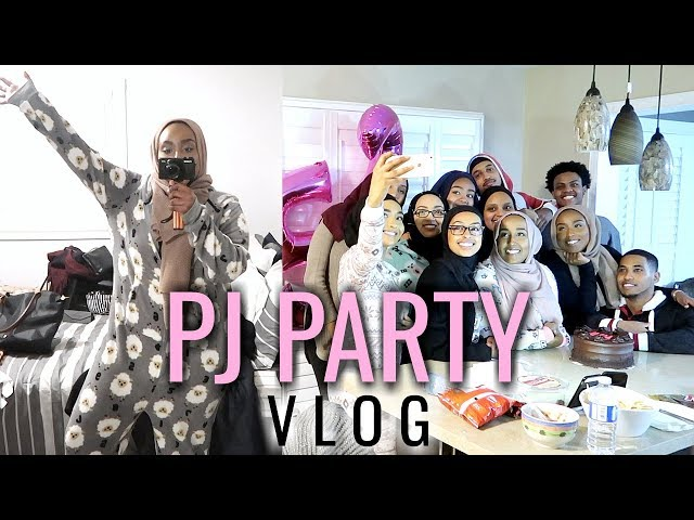 PJ PARTY WITH THE SQUAD! | Aysha Abdul VLOGS