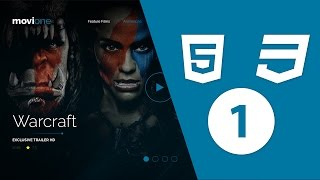 Web Design - Template Movie Coding With HTML5&CSS3 #Arabic