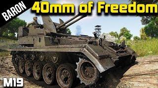 War Thunder American Flak - M19 40mm Freedom Dispenser!