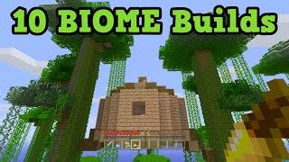 Minecraft Building Ideas - 10 BEST Biomes to build in