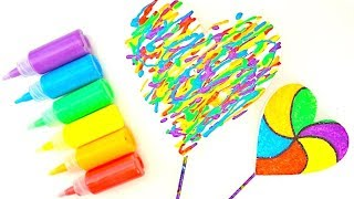 Учимся декорировать раскрашиваем сердце разными цветами