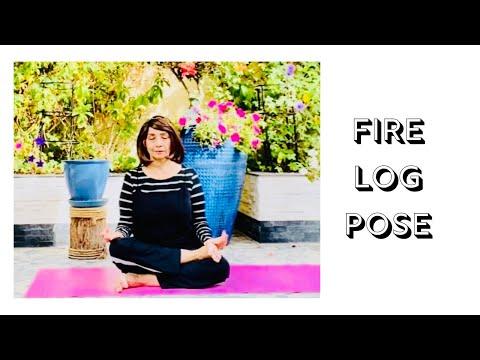Firelog Pose aka Agnistambhasana (yoga with yoga)