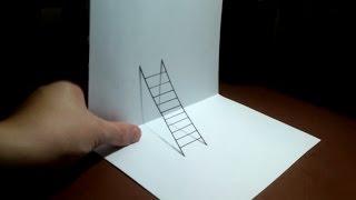 تعليم  رسم ثلاثي الابعاد   سهل وبسيط جدا   How to draw a 3D easy