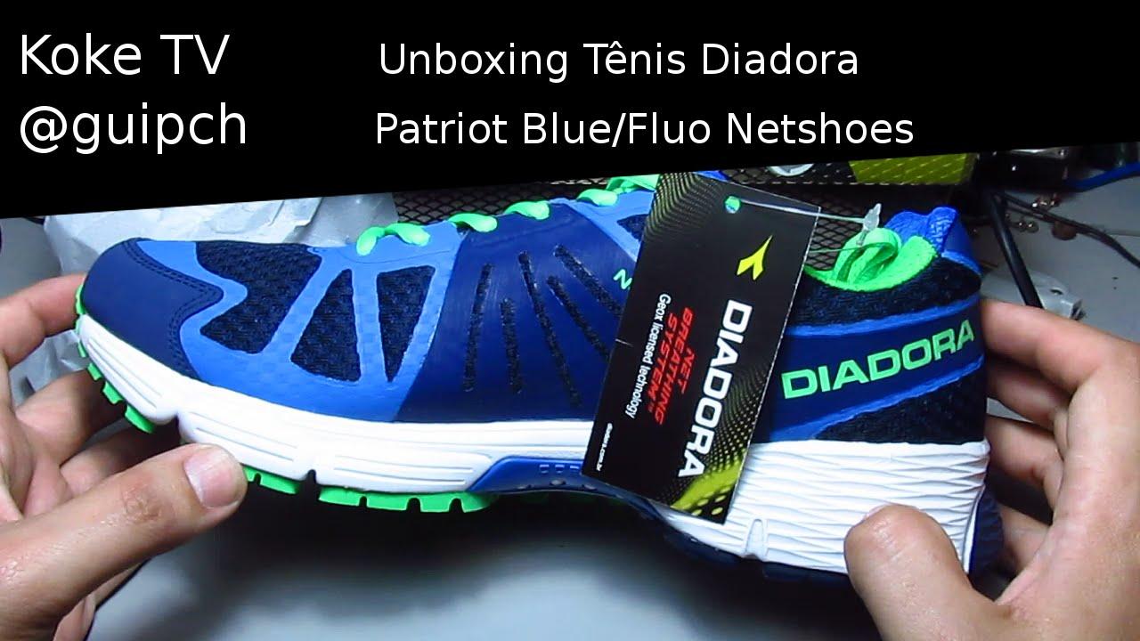 e9a158e23a3 Unboxing Tênis Diadora Patriot Blue Fluo Netshoes - YouTube