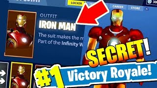 How to get the IRON MAN skin in Fortnite: Battle Royale *NEW* Easter egg