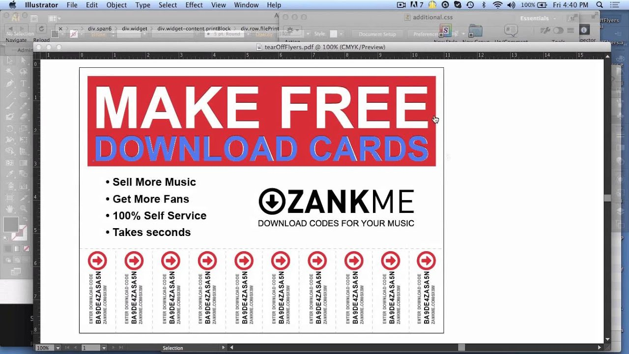 Make Custom TearOff Flyers with ZANKME YouTube – Tear off Tabs