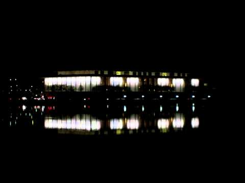Kennedy Center for the Performing Arts, Night View from Georgetown Marina (December 2011)
