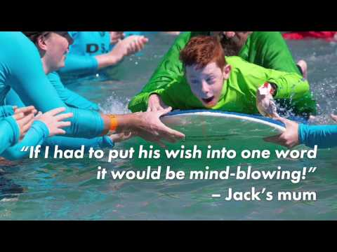 Surf's up for Jack's wish